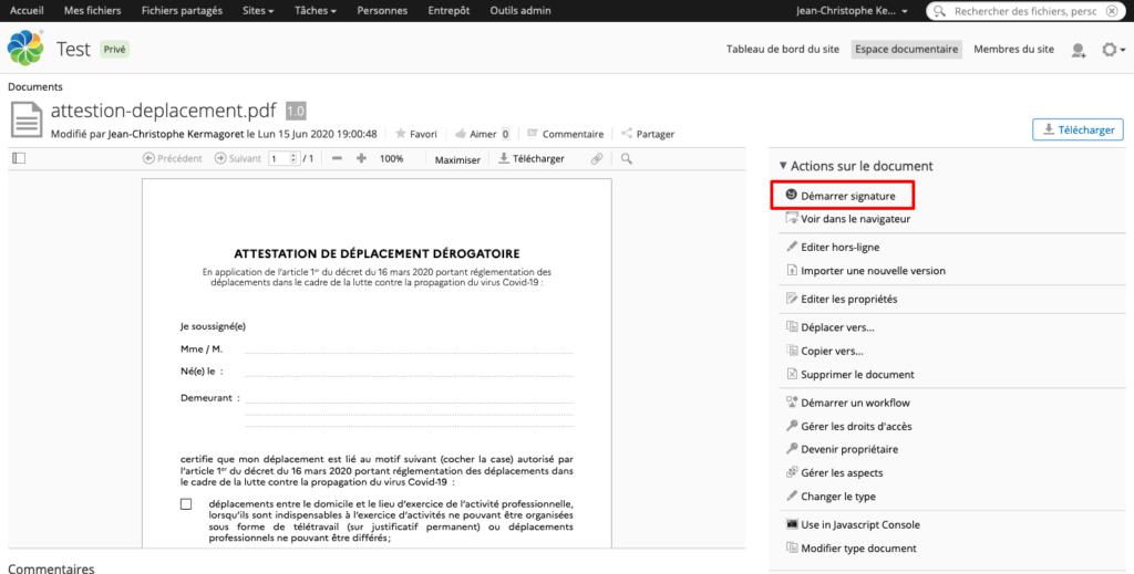 attestation-signature-alfresco - - bluexml expert ECM GED BPM Archivage Signature électronique