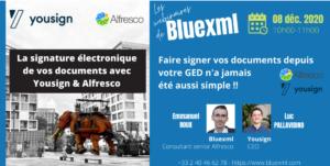 Webinar YouSign - bluexml expert ECM GED BPM Archivage Signature électroniqueWebinar YouSign - bluexml expert ECM GED BPM Archivage Signature électronique