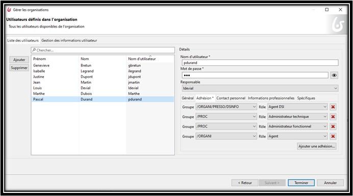 Bonita processus métiers Création d'utilisateurs de tests ECM BPM bluexml