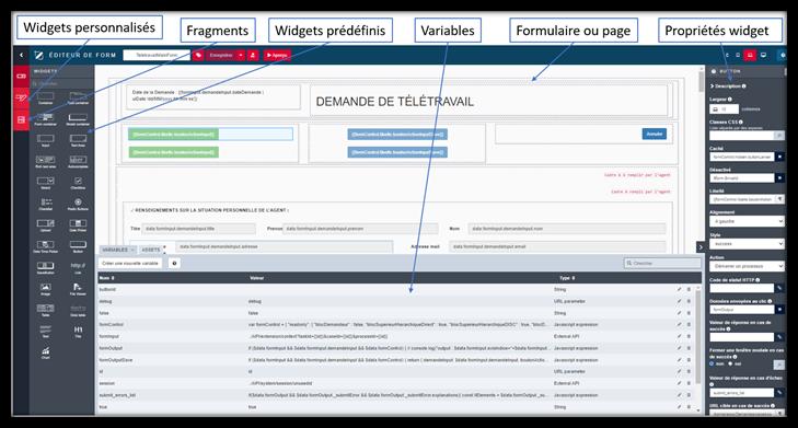 Conception avec les fonctionnels sur Bonita - BPM - développement interface